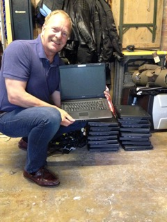 Kind donation of laptops by Broad Chalke Primary School