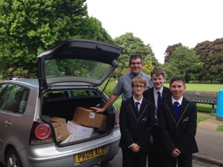 Kind donation by The Burgate School