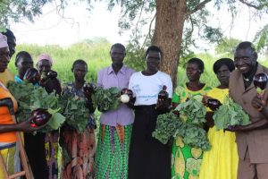 Women with their produce from Mijale