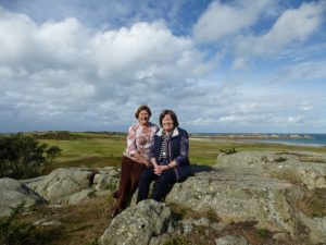 The authors at L'Ancresse Common in Guernsey