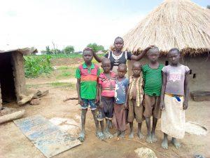 Cicila Prosy, children and 3 orphans