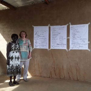 Yunia and I after the office training I conducted focusing on a compare and contrast exercise of Horti / Agri / Silvi - Culture. This was to deepen an understanding of the differences with growing vegetables at garden level and at field level.