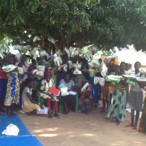 Mosquito net distribution in Mijale