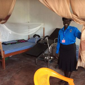 New clinic delivery suite - midwife Betty