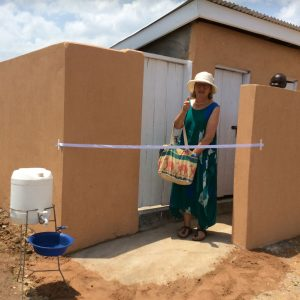 Opening the new latrine