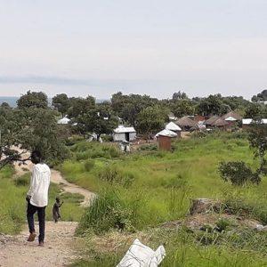Refugee camp view