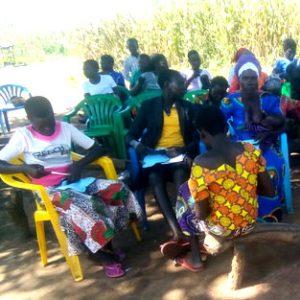 RUMPS training in bush settlement Gobor