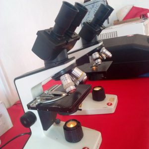 Electronic microscopes used in the night to diagnose Gadafi