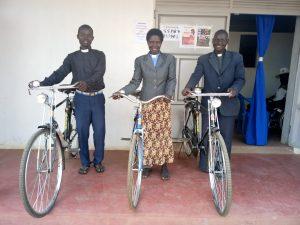 Bicycles for pastors in rural Northern Uganda