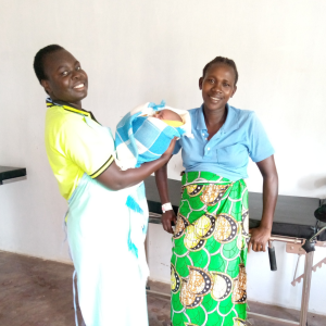 Student midwife Celina and Ms. Susan after safe delivery