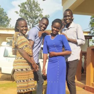Viola Poni, Isaac Kwaje, Alia Gloria and Murye Scopas Edward at the DoL Office in Arua