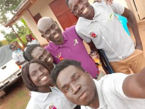 Students with Bishop on Students Day