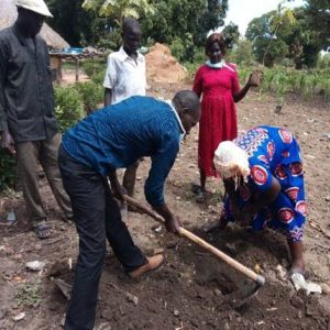 CRESS agriculture officer-Julious Abate planting-trees