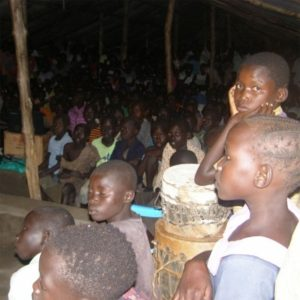 Jesus Film being shown in Canana Church
