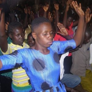 Jesus Film shown in Imvepi Refugee Settlement