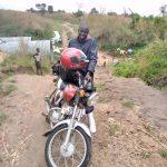 Lulu on the motorcycle