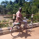 A counsellor on his bicycle donated by CRESS last year