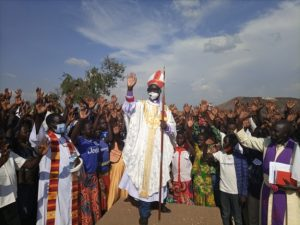 Bishop Joseph Aba at the confirmation