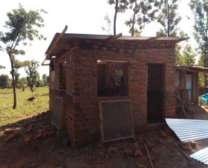 Poultry house being built