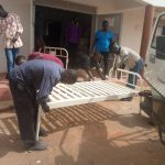 Team work in assembling the beds