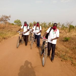 CATT counsellors cycle long distances to see those needing help