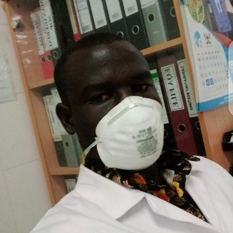 Bosco Mabe studying hard!