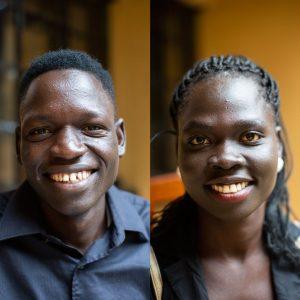 Daniel Dube and Josephine Jukodu